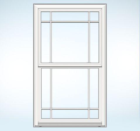 Premium Vinyl V 4500 Double Hung Double Hung Windows Prairie Style Windows