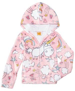 ab239139b Universal Studios Pink Unicorn Hoodie, Little Girls (4-6X) - Multi ...