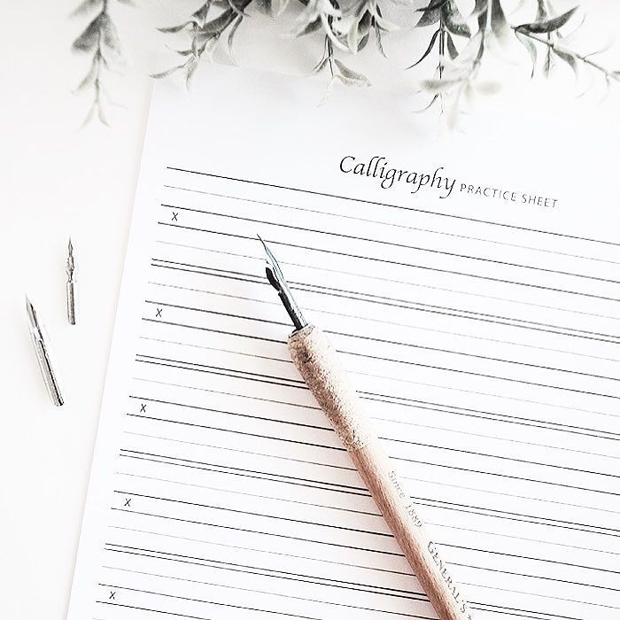 If you're blessed with extra time today feel free to download this free calligraphy practice sheet. That's what I wish I could be doing instead.