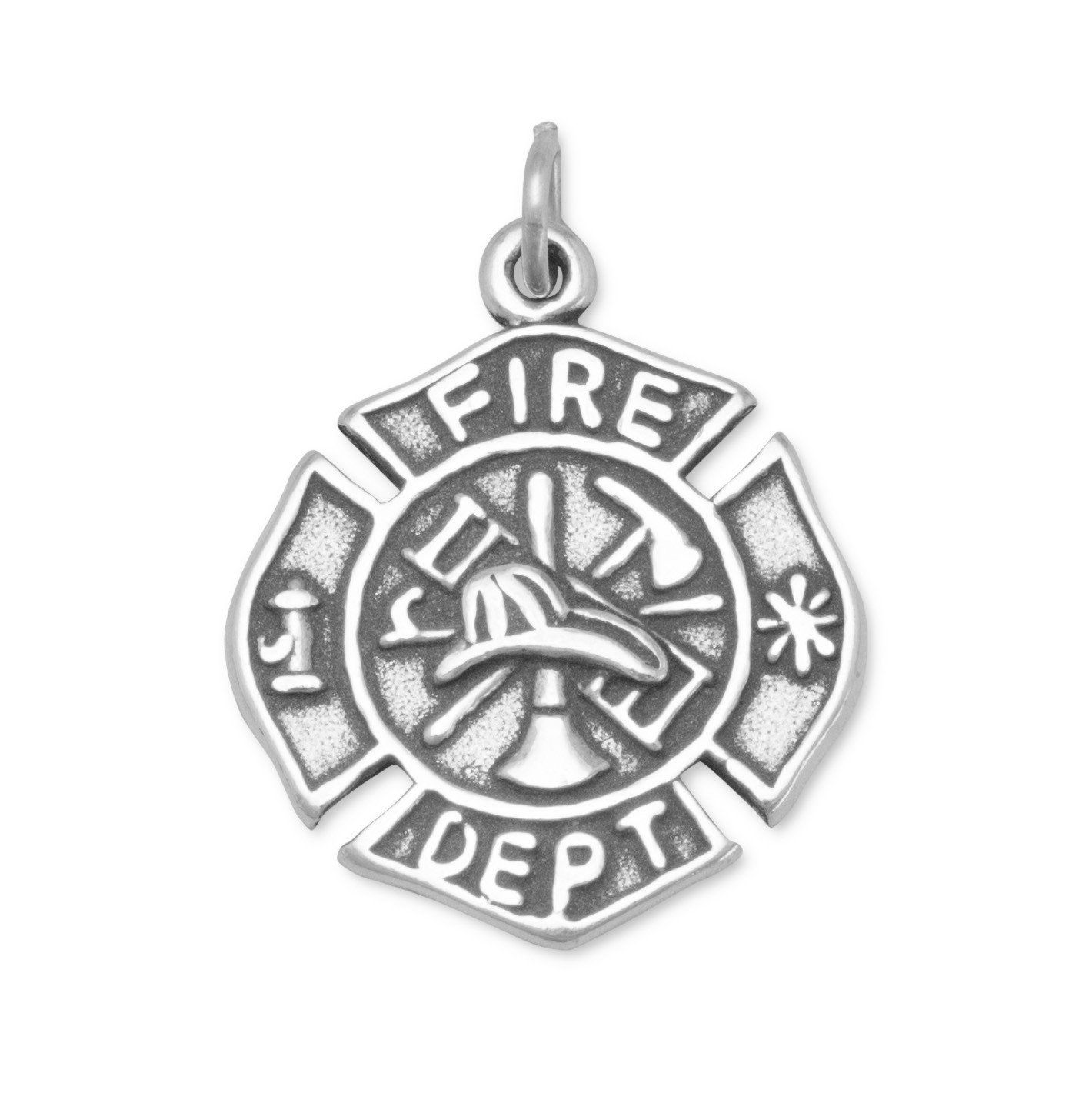 sterling firefighter daviddafferdesigns fire pendant david size tiny daffer cross maltese pin silver department necklace designs