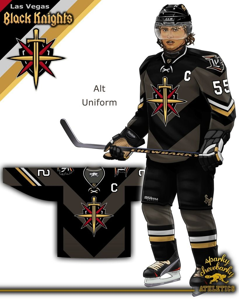 Las Vegas Black Knights Nhl Concept The Video Page 9 Concepts Sports Jersey Design Nhl Sports Team Logos