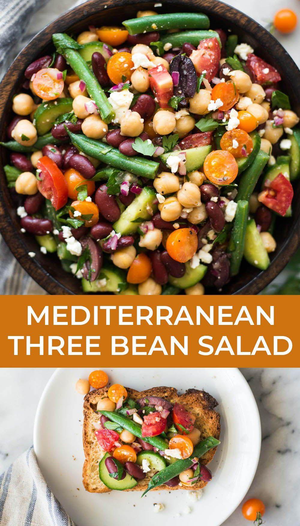 Mediterranean Three Bean Salad Recipe