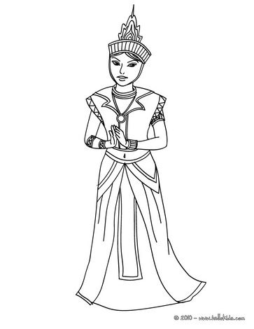 Princesses Of The World Coloring Pages Thai Princess Princess Coloring Pages Princess Coloring Thai Princess