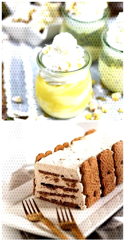 Zitronen Quark Mousse Dessert mit weisser Schokolade - Lemon Cheese Cake Mousse Dessert with ... Zi