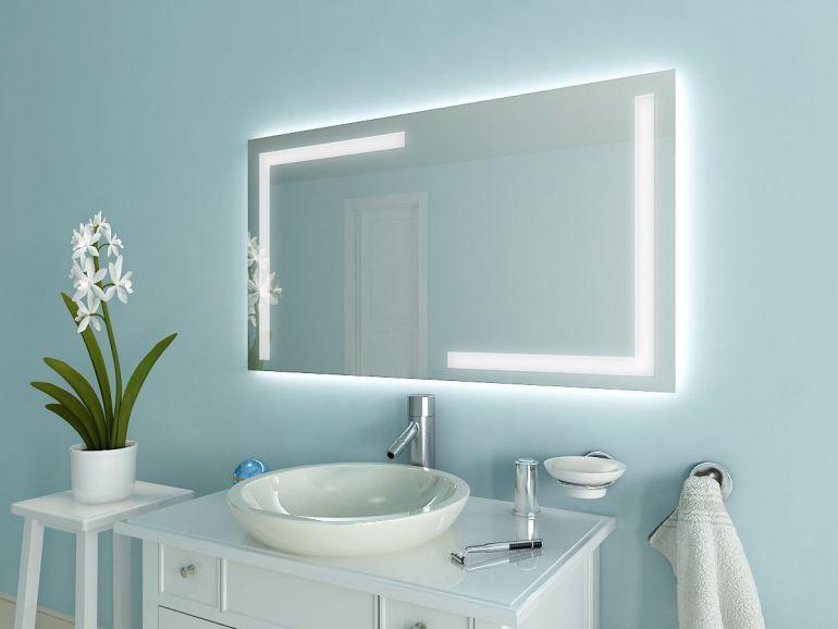 Badspiegel mit LED Beleuchtung - Korlin M202L4 haus Pinterest - badezimmer spiegelschrank mit beleuchtung günstig