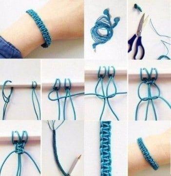 b21be5310f49 Aprende a hacer pulseras de macrame faciles | manualidades ...