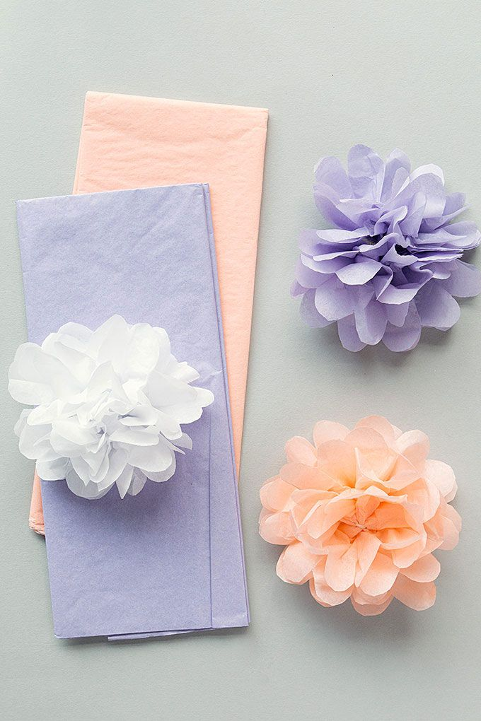 Craft Ideas With Paper Easy Paper Crafts Wedding Paper Pom Poms