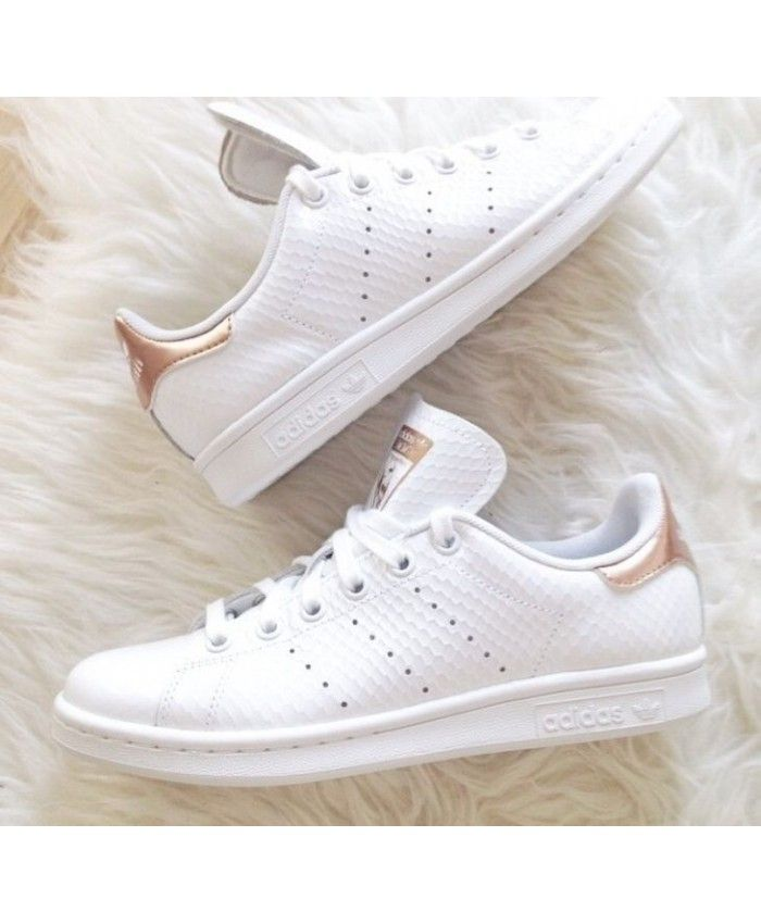new product 4ef80 8f976 Adidas Stan Smith White Rose Gold Trainers | Обувь | Rose ...