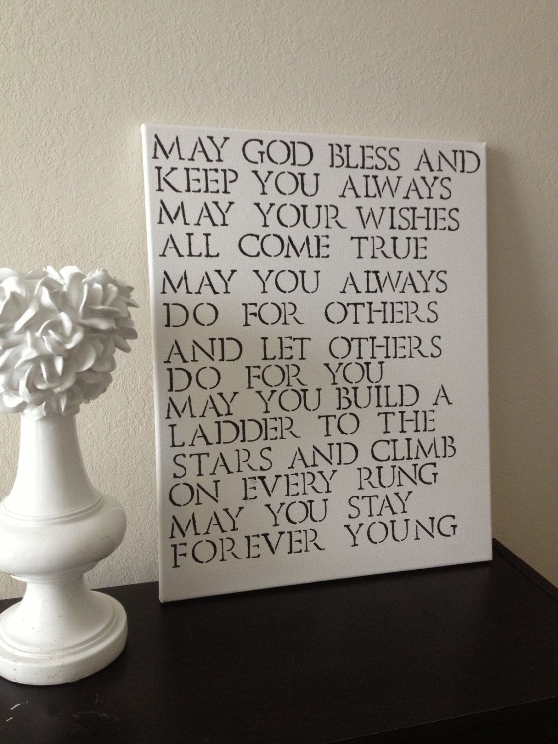 16x20 Quote Canvas Forever Young Bob Dylan Quote 40 00 Via