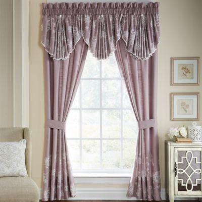 Croscill Liliana 84 Rod Pocket Window Curtain Panel Pair In Mauve