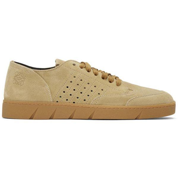LoeweTan Leather Sneakers TXMO1Hc5X