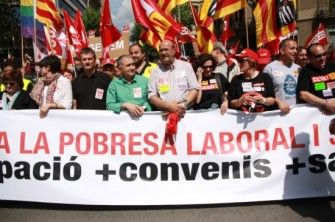 Els sindicats espanyols tornen a oblidar Catalunya l'1 de maig - directe.cat, 1 DE MAIG DE 2015