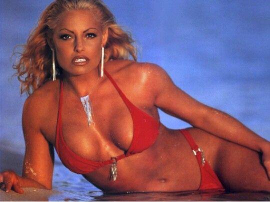 Trish Stratus Hot In A Red Bikini F F  A F F  D