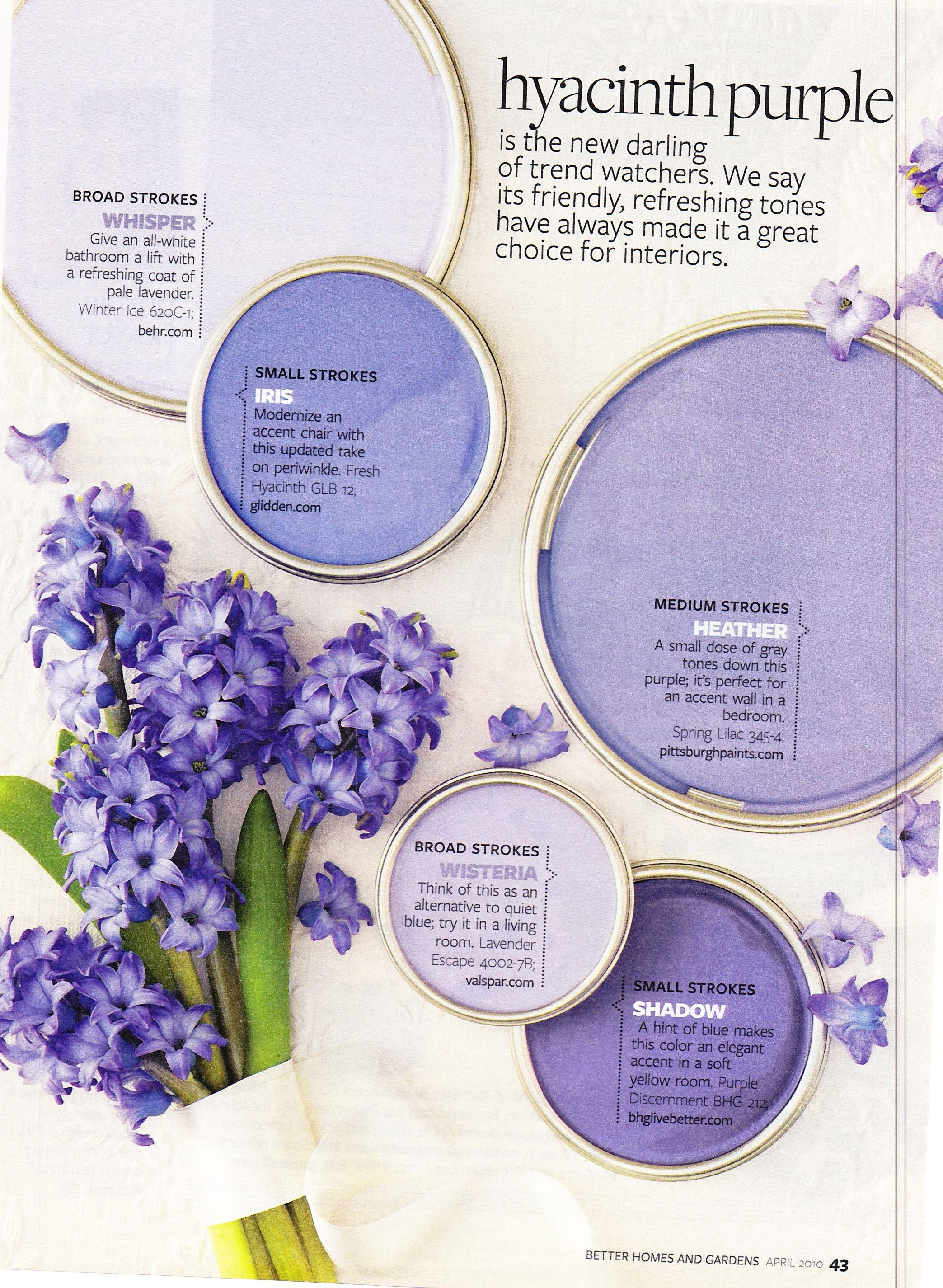 Hyacinth Purple Pg1 Wall Colors For Bedroom Blue Ceiling