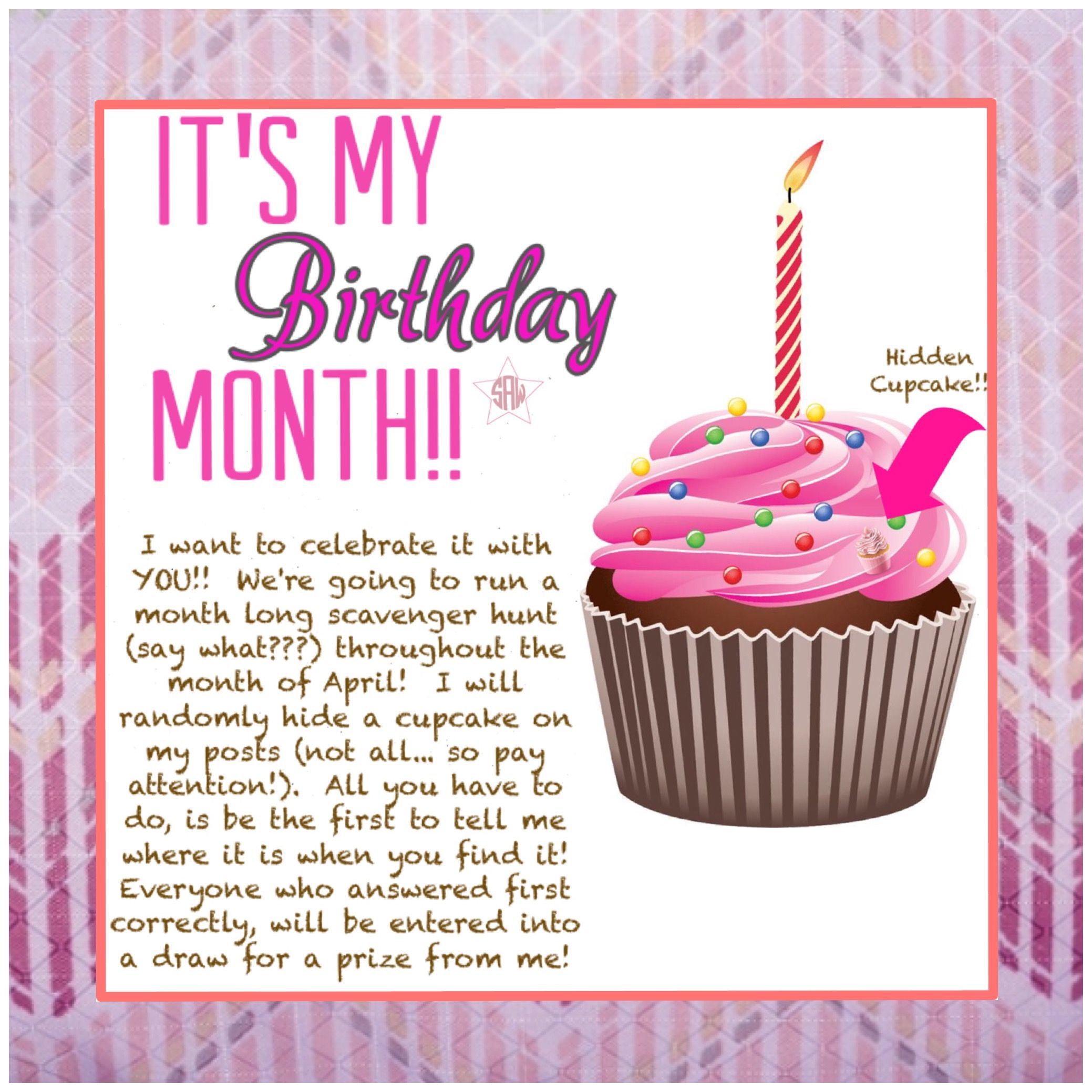 Direct sales It's my birthday month idea!! Graphic for VIP