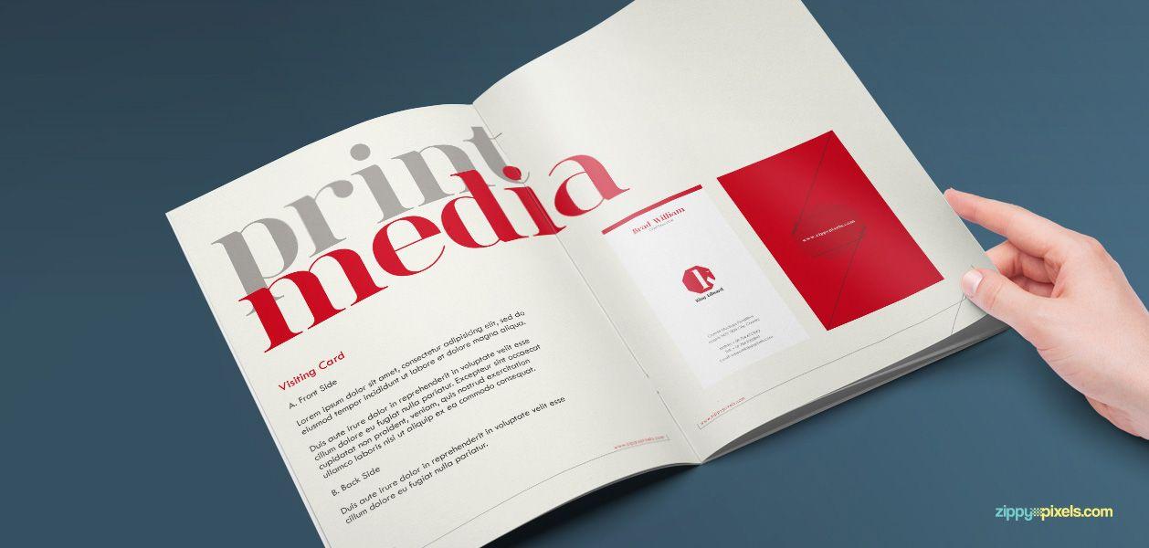 Corporate Identity Guidelines Template - Brand Book | Brand book ...