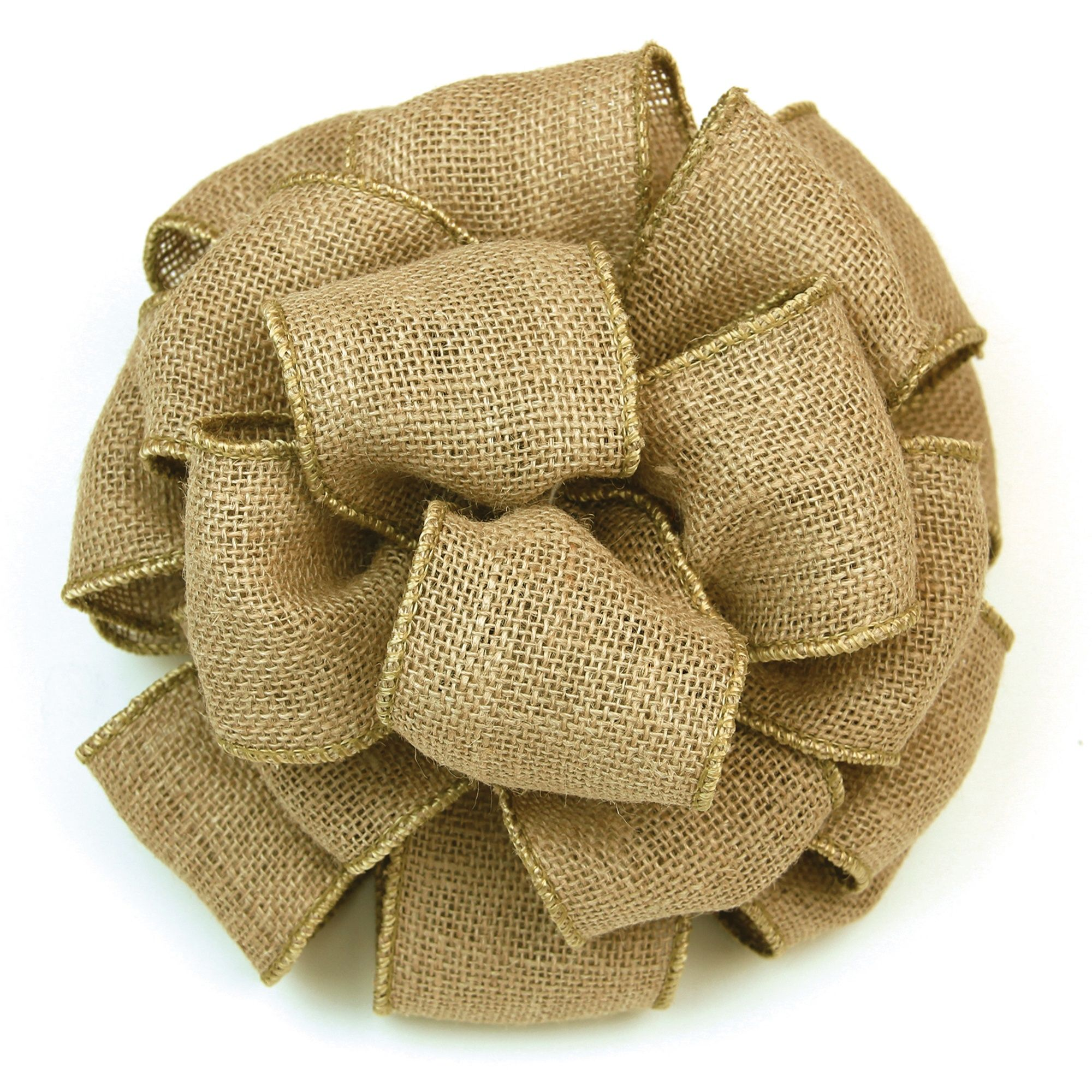 "Diy Burlap Wedding Ideas: 2-1/2"" Wired Burlap Ribbon (25 Yards)"