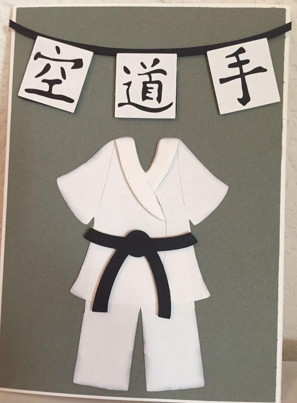 Karate card Cricut Karate Birthday 9f0c9a658bcfc