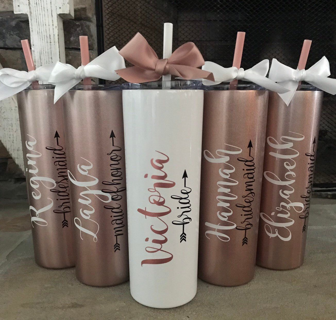 ROSE GOLD bridesmaid gift ideas bridesmaids gifts on a budget bridesmaid proposal box brides tribe gifts maid of honor tumbler gifts ROSE GOLD brbox