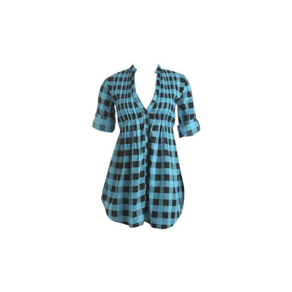 Buffalo Plaid Tunic Top - Teen Clothing by Wet Seal ($15) ❤ liked on Polyvore featuring tops, tunics, shirts, blusas, dresses, plaid, buffalo check shirt, shirt tunic, wet seal shirts and tartan plaid shirt