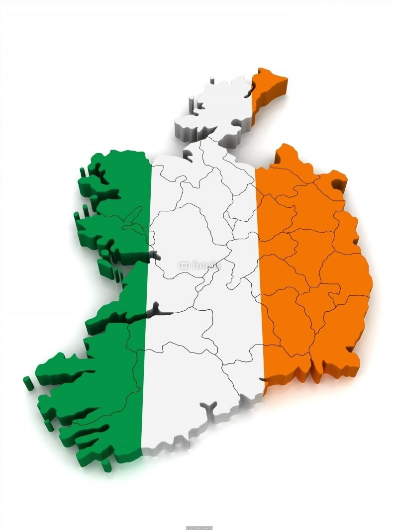 3D Map of Ireland poster | World Map Poster | World map poster, Map ...