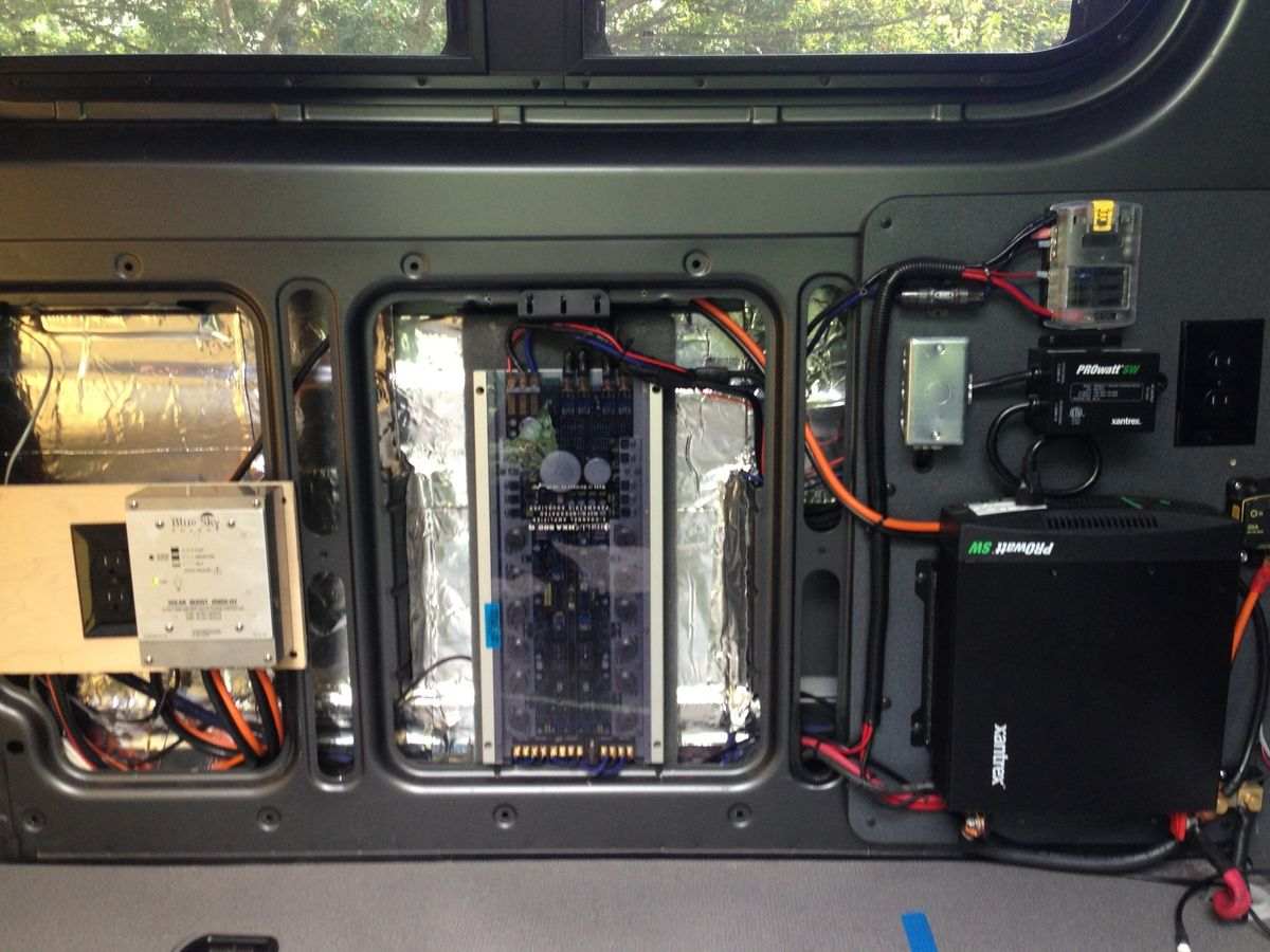 Left To Right Solar Tracking System Stereo Amp And The Inverter Battery Wiring