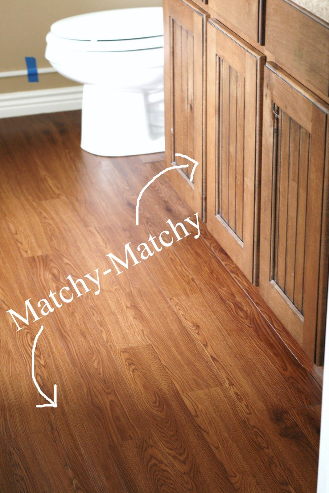 Master Bathroom Peel And Stick Wood Plank Flooring Renovate Diy