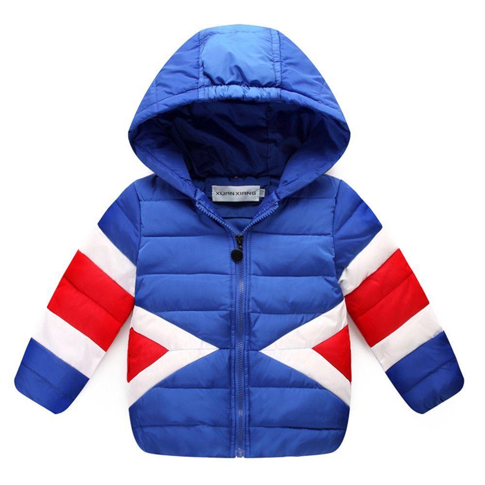 3cec9a85b9b5 Winter Boy Girl Children Garments Down Coat Warm Thick light blue ...