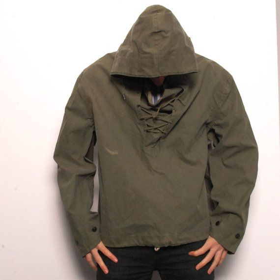 MILITARY waxed canvas green pullover PARKA jacket | J | Pinterest ...