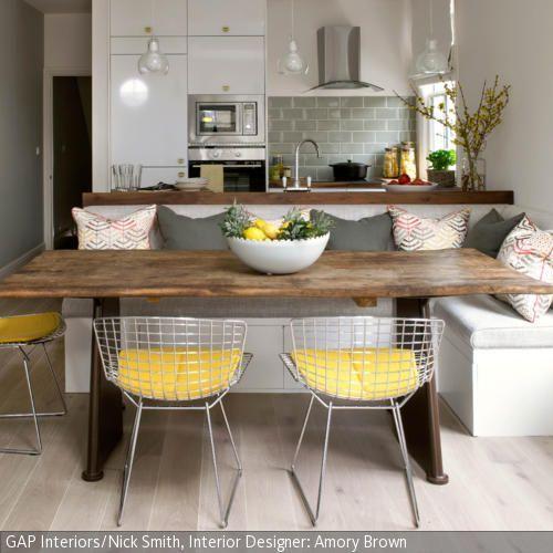 Sitzbank im Esszimmer - küche welche farbe