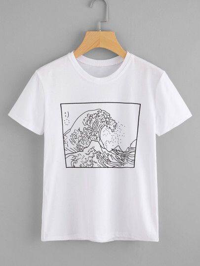 T-Shirt mit Grafikmuster Only US$9.00 #teedesign