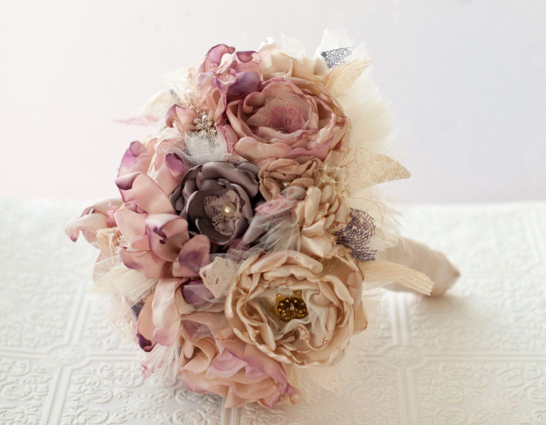 Fabric wedding bouquet fabric brooch bouquet bridal flower fabric wedding bouquet fabric brooch bouquet bridal flower izmirmasajfo