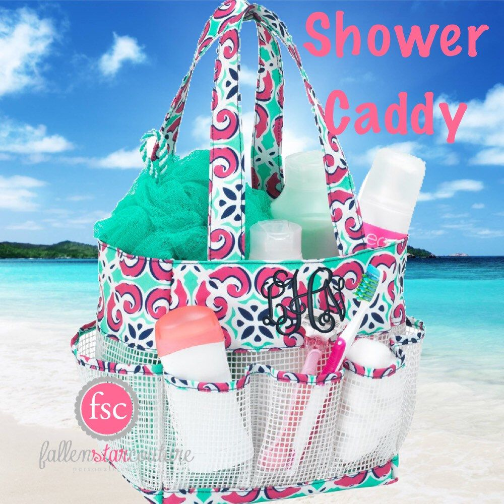 College Girl Shower Caddy, personalized shower caddy, monogrammed ...