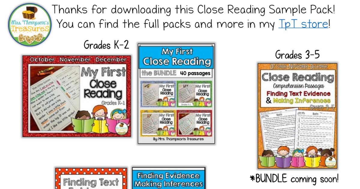 Thanksgiving Close Reading.pdf freebie 3rd grade reading