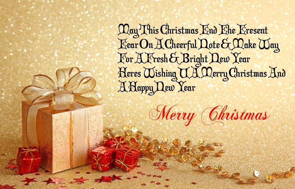 Merry Christmas  Happy New Year Hope All Good Thing For You And