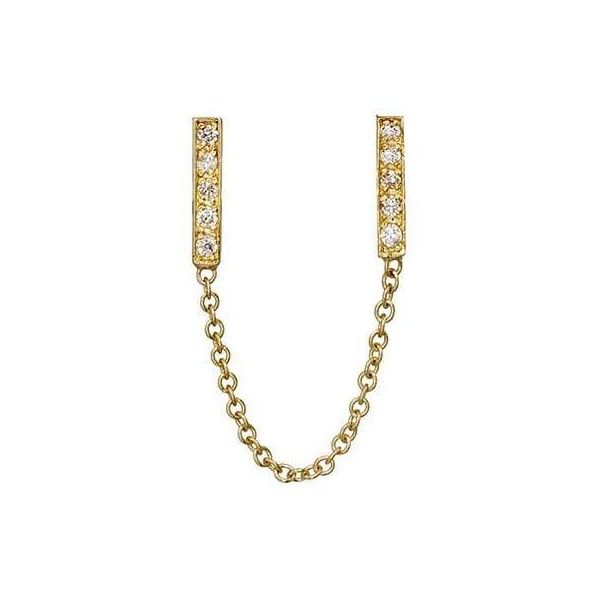Jennifer Meyer Womens Double-Bar Drop Earrings 7QVzlGBUoQ