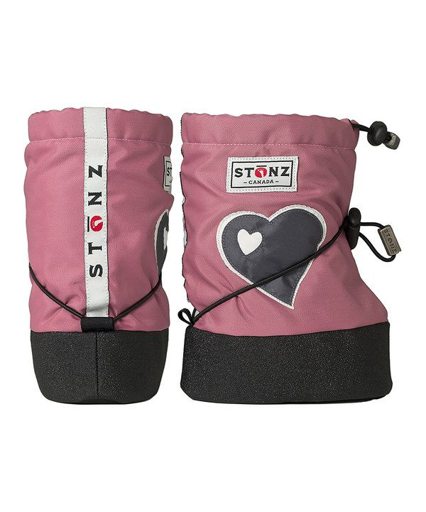 Look at this Stonz Dusty Pink Heart Bootie on #zulily today!