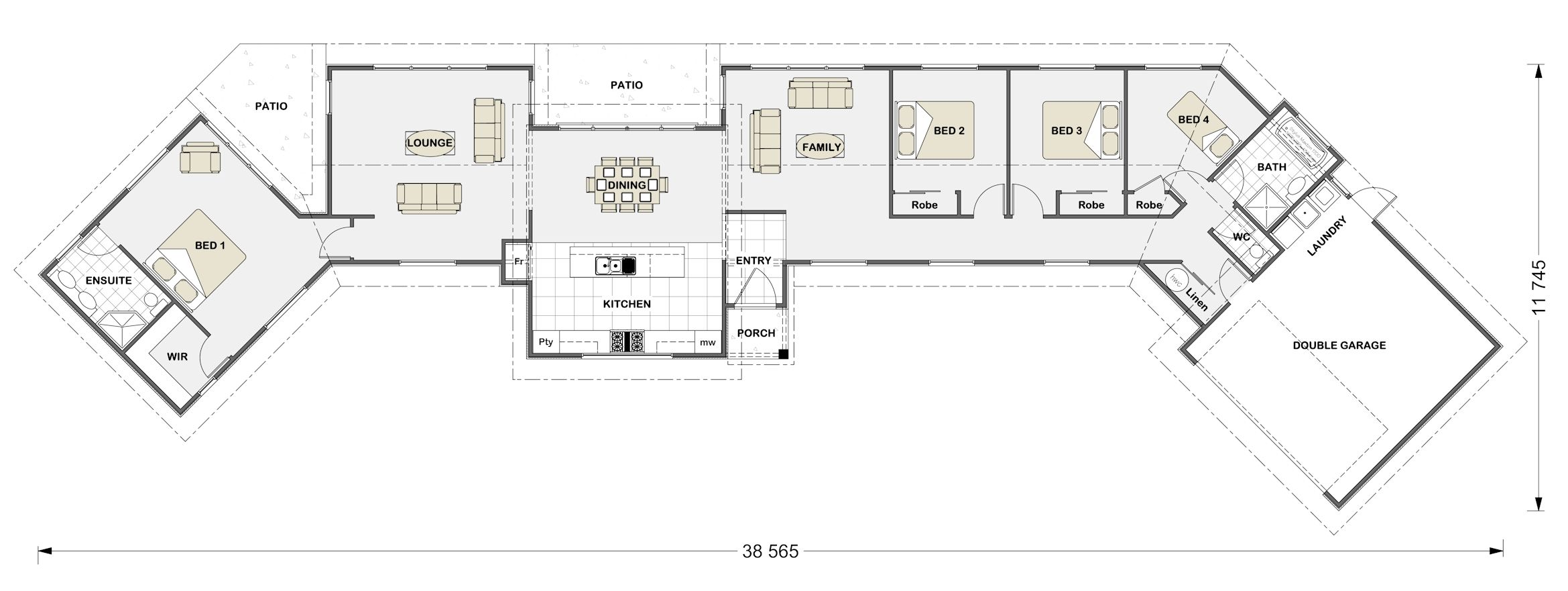Stonewood Homes Floor Plans Part - 25: Stonewood - Like The Master Bedroom Being Seperate · House FloorBuilding ...