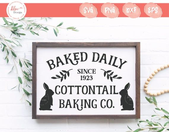 Download Easter Sign SVG   Cottontail Baking Co   Cottontail Farm ...