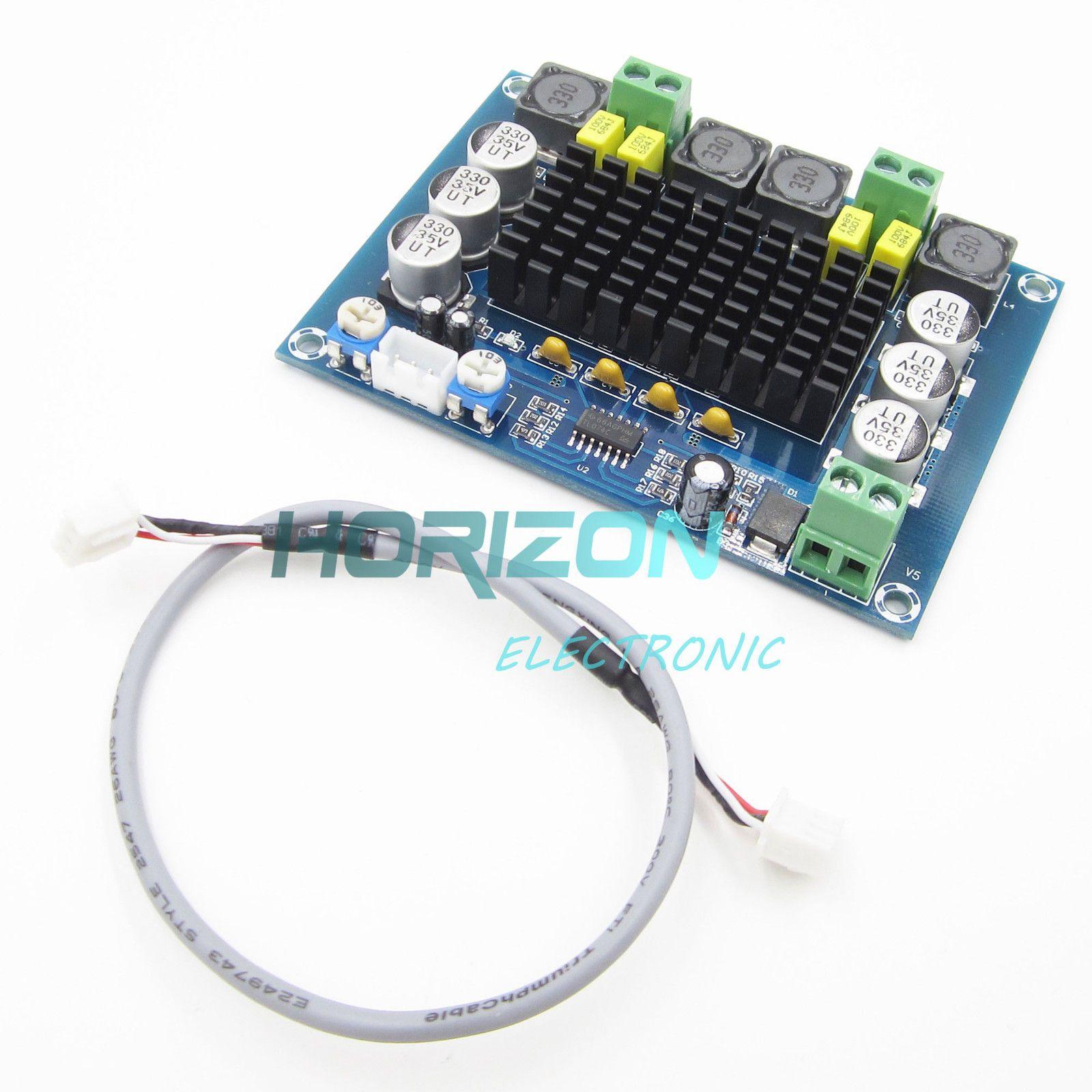 672 Tpa3116 D2 120w 12v 24v Dual Channel Stereo Digital 2x50w Class D Audio Power Amplifier Circuit Board Ebay Electronics