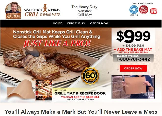 Copper Chef Grill Mat Is A Nonstick Mat That Keeps Your Grill Clean While You Prepare Food On The Grill Read Our Copper Chef Copper Chef Chef Grill Grill Mats