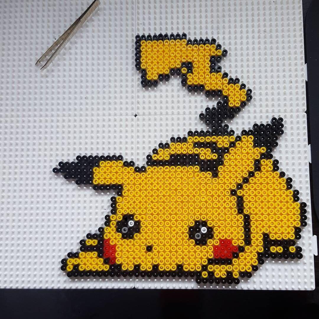 Pikachu perler beads by getoji | Hama | Perler beads, Hama
