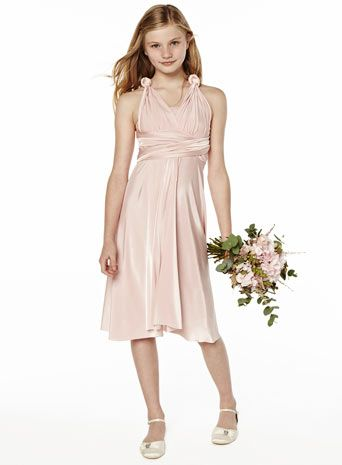 Ballet Pink Teen Twist & Wrap - young bridesmaids ...