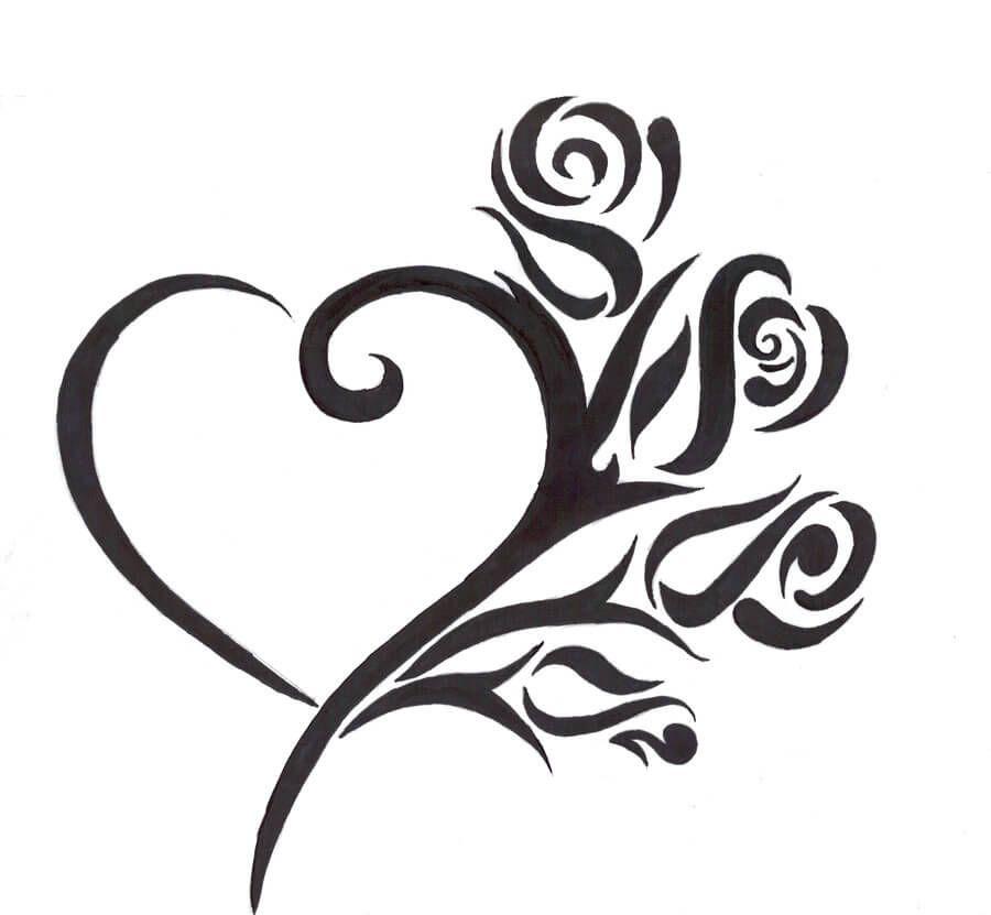 Pin De Violetta Clemente En Tattoos Disenos De Tatuajes De Corazon Tatuajes De Corazones Tribales Tatuajes Corazones Pequenos