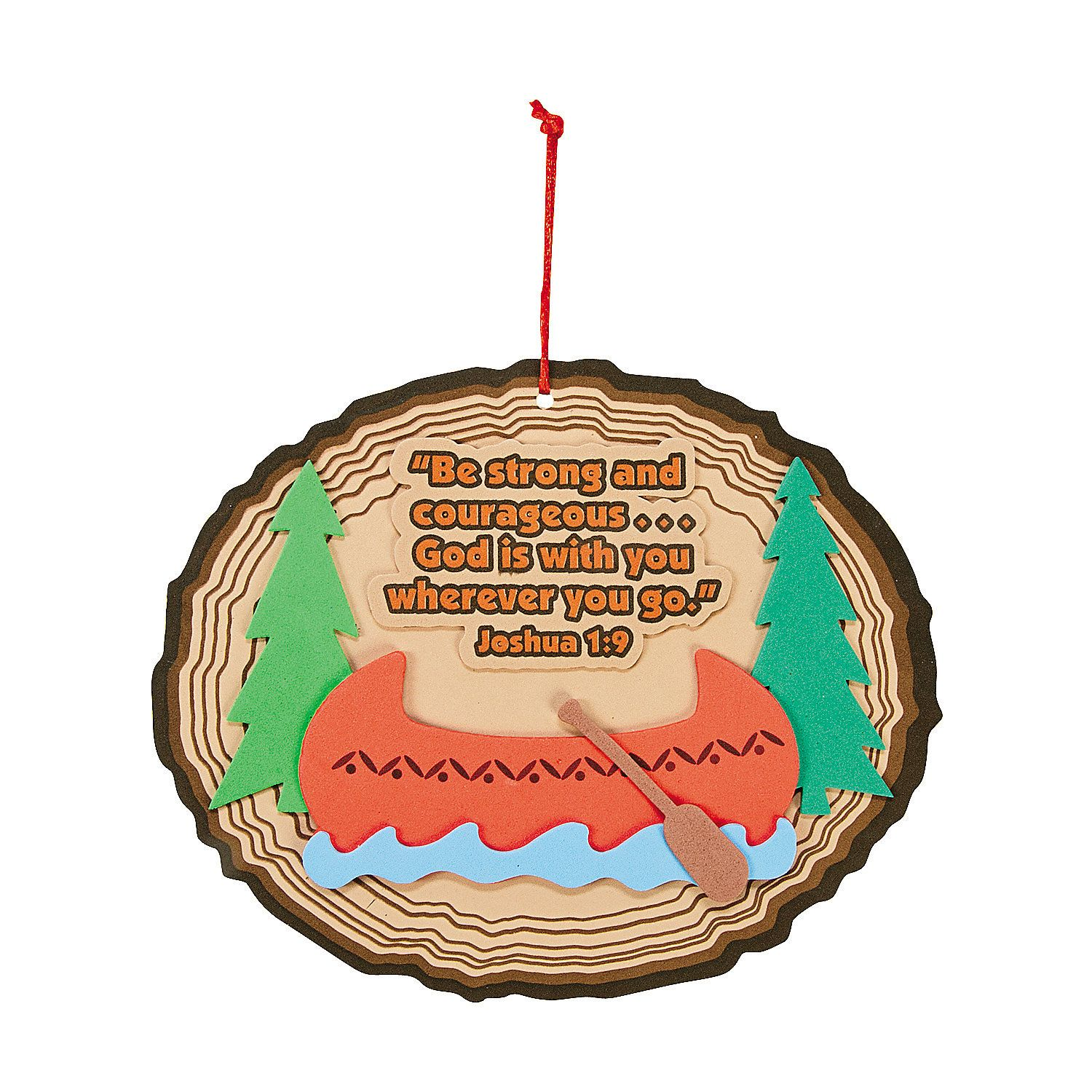 Camp Courage Sign Craft Kit - OrientalTrading.com