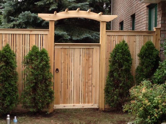 arbor over gate ideas Cedar Fence Gates Ideas for the House