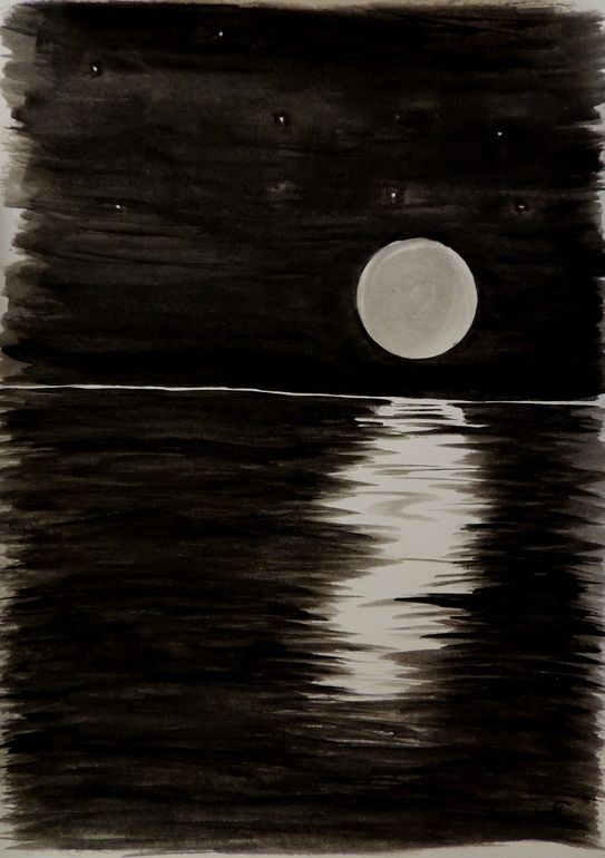 Saatchi Art Moon Rise Painting By Rachel Cross