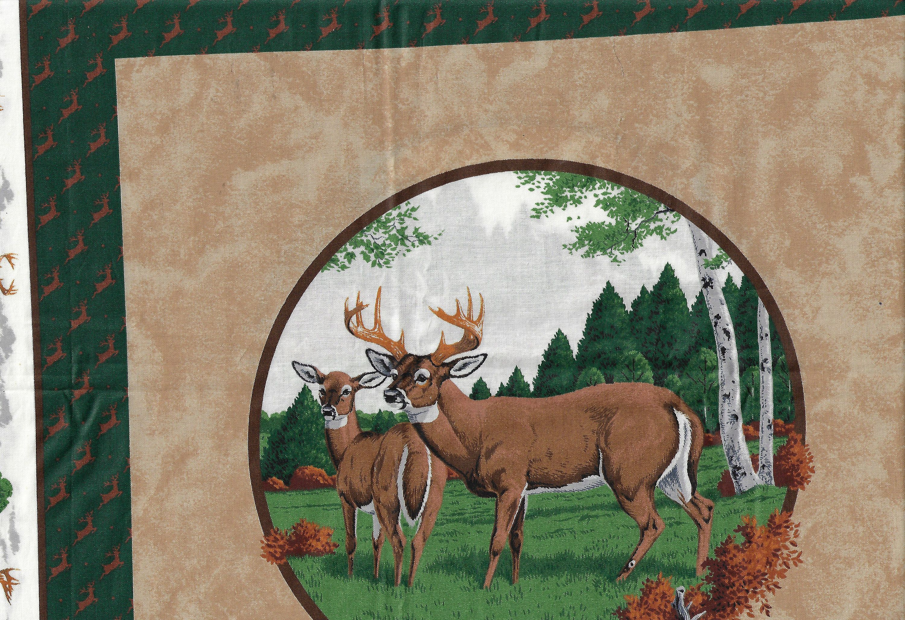 Whitetail Deer Print For Pillow Or Quilt By Vip Screen Print Etsy Deer Print Whitetail Deer Quilts