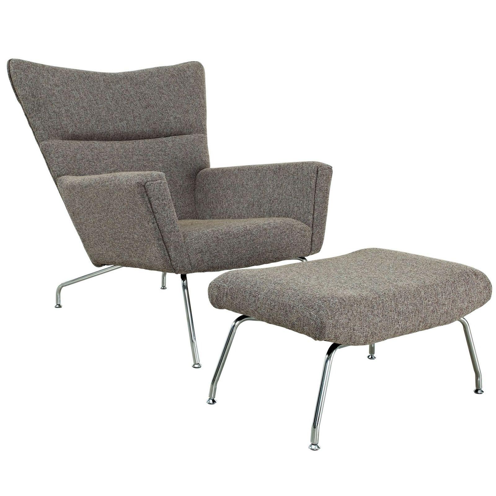 Great Futuristic Lounge Chair U0026 Ottoman Set   Oatmeal | Dotandbo.com  #DotandBoAutumn
