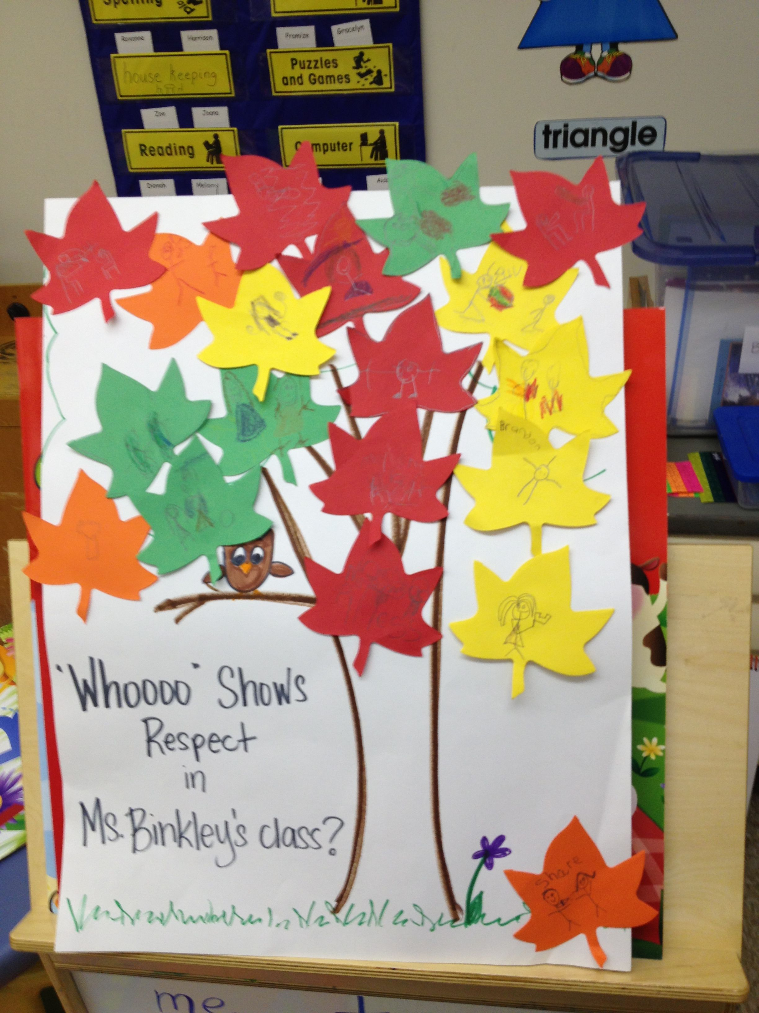 Whooooo Shows Respect In Class Students Write Ways They